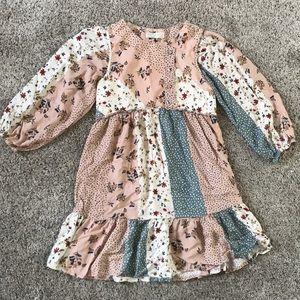 Zara girl 13/14 patchwork looking dress